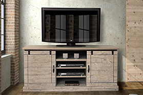TV console Driftwood